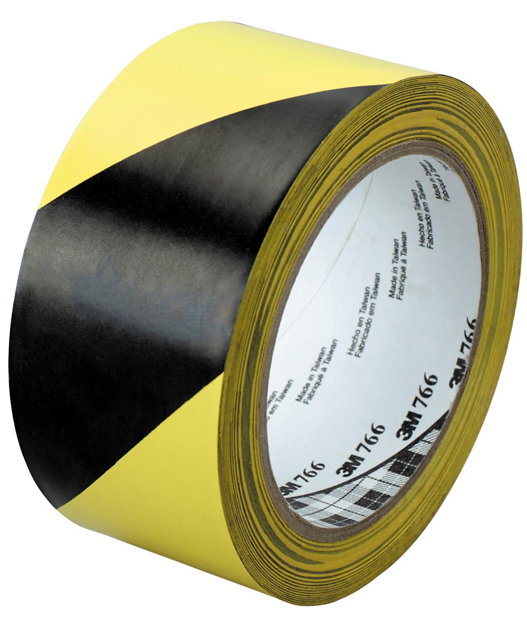 3M fare- og advarselstape - sort/gul