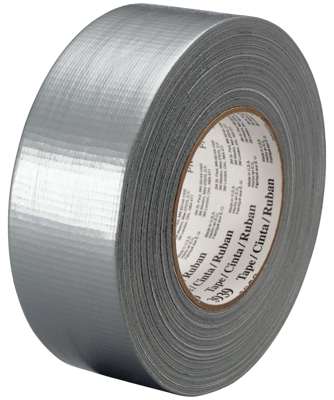 3M lærredstape 3939 - sølv