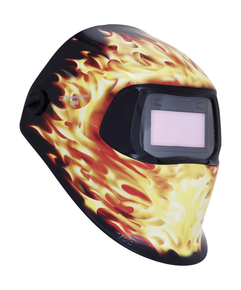 3M Speedglas 100V svejseskærm m. grafik - flamme