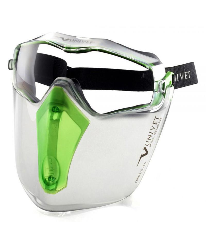 Univet 6X3 sikkerhedsbrille m/ visir