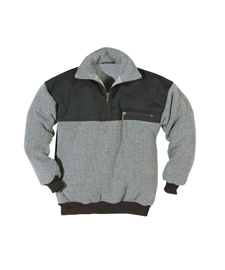 Kansas Crafts sweater med fiberpelsfor