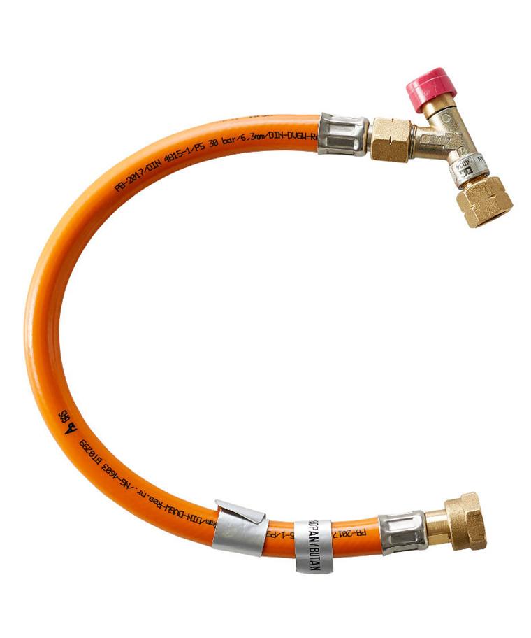 Højtryksslange m/ slangebrudsventil til omskifter