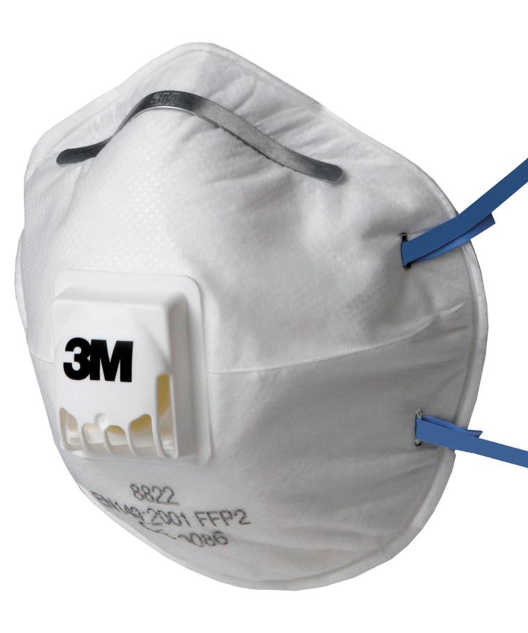 3M 8822 støvmaske FFP2 m/ ventil - 10 stk.