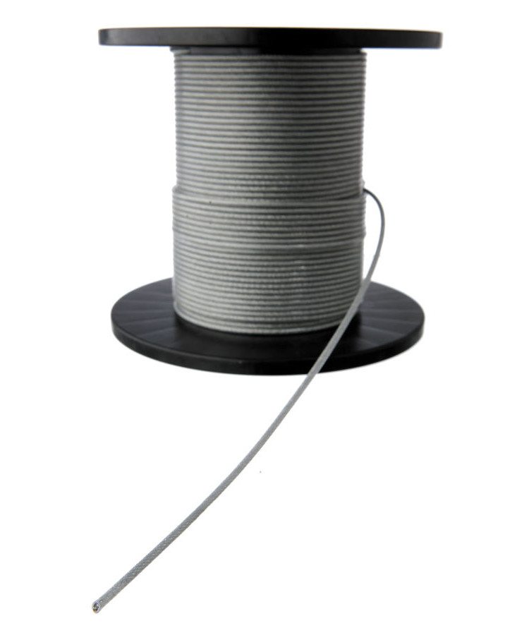 Stålwire galvaniseret Ø2-3 mm 110 m - belagt m/ PVC
