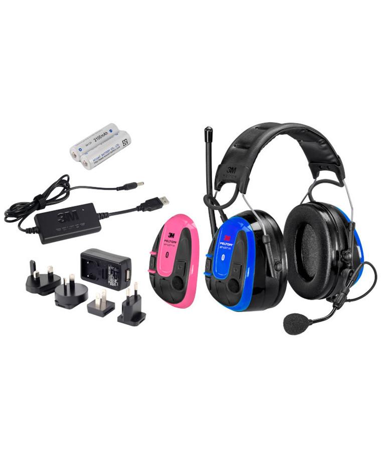 3M Peltor WS Alert XPI høreværn m/ Bluetooth Multipoint + mobile app inkl. oplader