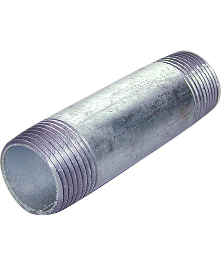 """Nippelrør 1/2"""" x 80 mm galvaniseret"""