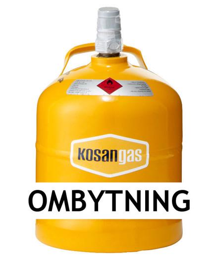 Kosangas 2 kg gas ved ombytning af stålflaske (afhentet)