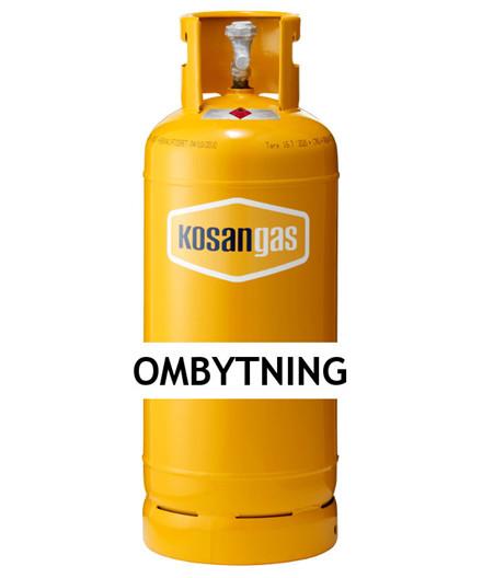 Kosangas 17 kg gas ved ombytning af stålflaske (afhentet)
