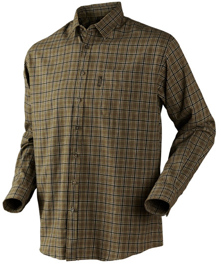 Seeland Burley L/S skjorte - duffel green check