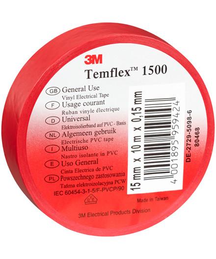 3M Temflex 1500 isolerbånd – rød