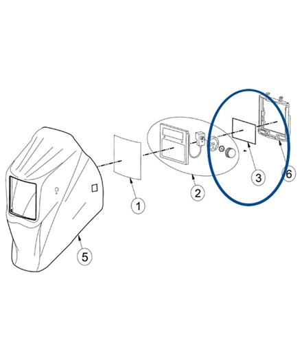 Indvendig beskyttelsesglas til VarioProtect L-2 svejsehjelm