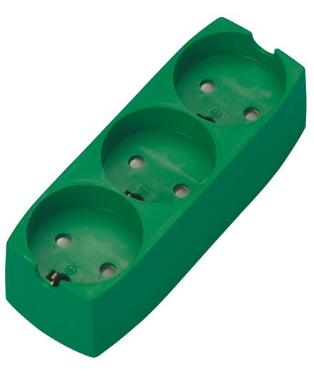 Schneider stikdåse grøn m/ 3 stik