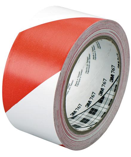 3M fare- og advarselstape - rød/hvid