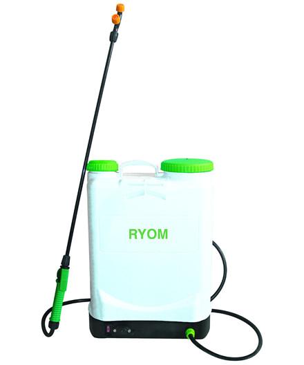 Ryom rygsprøjte m/ motor og batteri