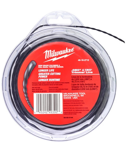 Milwaukee trimmertråd Ø2,0 mm 45 meter