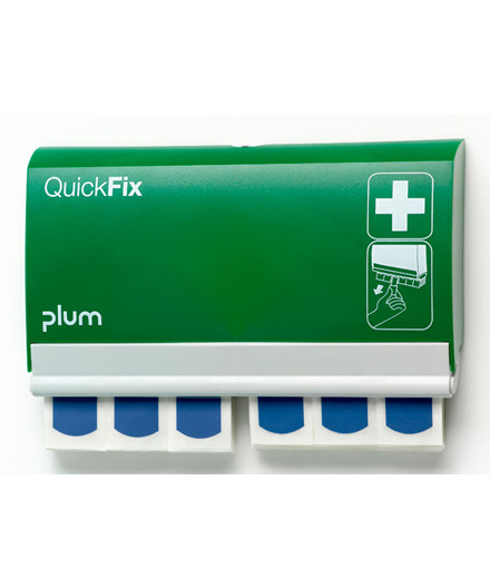 Plum Quickfix plasterdispenser m/ 90 blå sporbare plastre