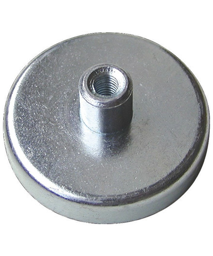 Pottemagnet flad Ø63 mm - 35 kg holdekraft