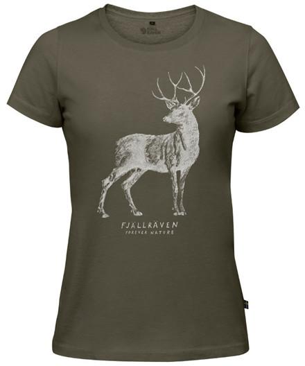 Fjällräven Deer Print T-Shirt W.