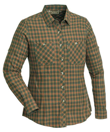 Pinewood Felicia skjorte Green/Terracotta
