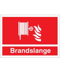 Brandskilt - Brandslange - plast 210x297 mm