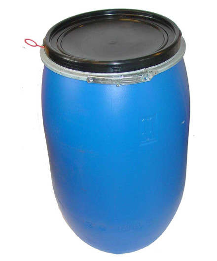 Fodertønde med låg 220 liter