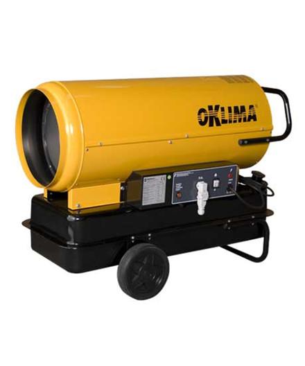Oklima SD240 varmekanon - direkte fyret uden skorsten