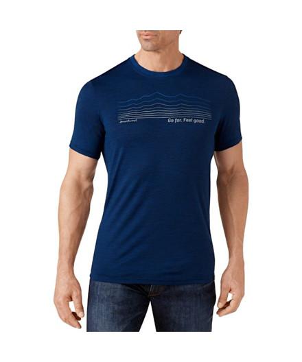 Smartwool Striped Logo Slim Fit T-shirt