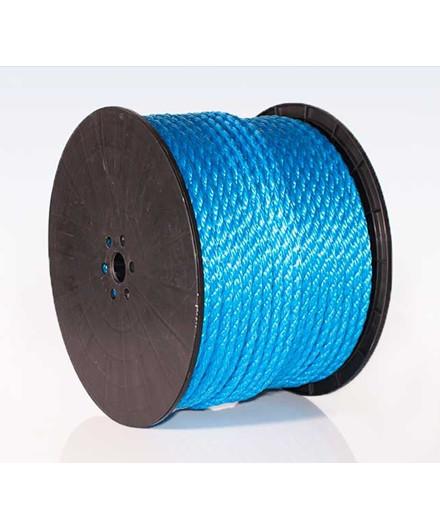 Polyreb blå Ø10 mm - 125 meter på spole