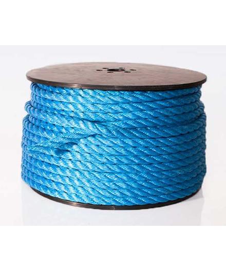 Polyreb blå Ø12 mm - 85 meter på spole