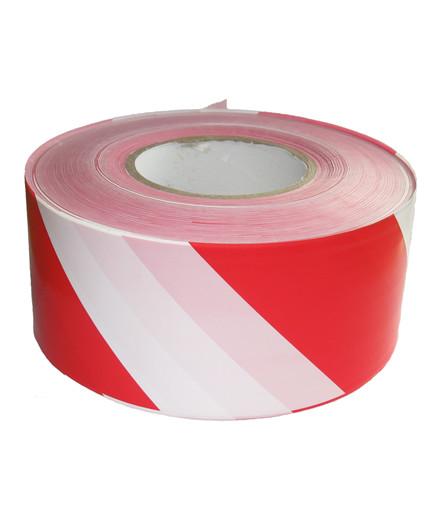 Afspærringsbånd rød/hvid 500 m