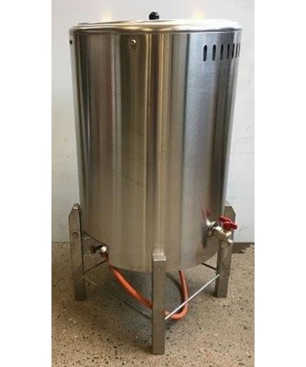 Gasgruekedel rustfri 100 liter