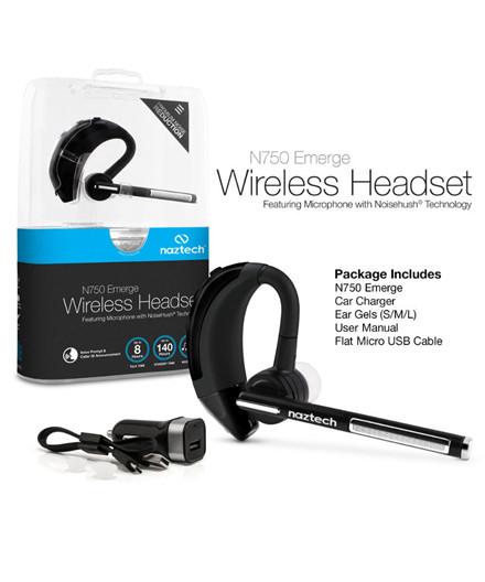 Naztech N750 Bluetooth trådløst headset