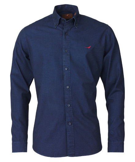 Laksen Wayne Oxford Skjorte – Indigo