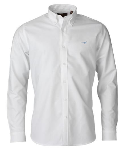 Laksen Harvard Oxford Skjorte - White