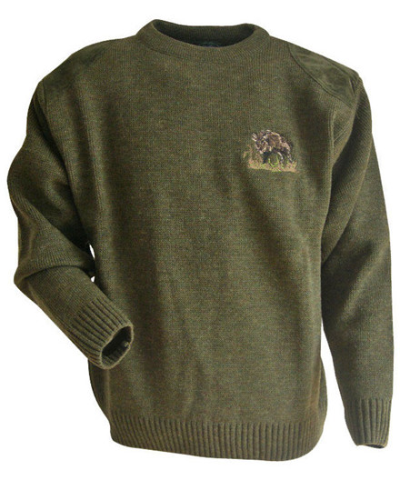 LMA Chasse pullover m/ brodering