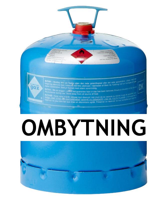 Kendte Kosangas 3 kg gas ved ombytning af Campingaz blå CGI flaske (afhentet) TH-16