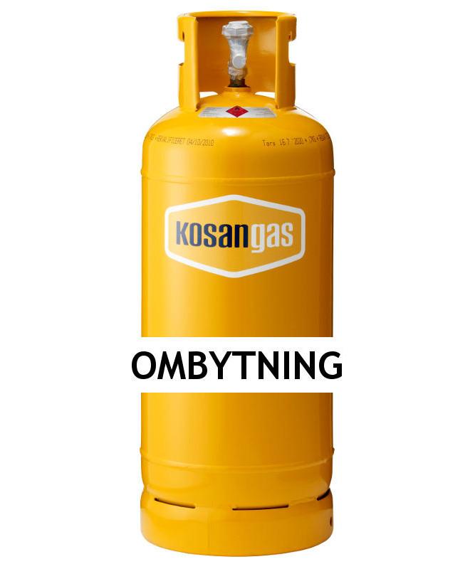 Populære Kosangas 17 kg gas ved ombytning af stålflaske (afhentet) QV-84