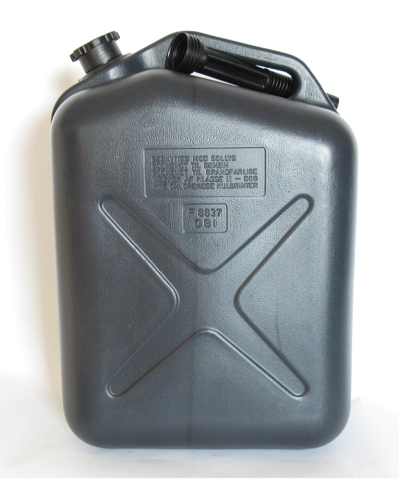 Dejlig Benzindunk 25 liter m/ tud IJ-72