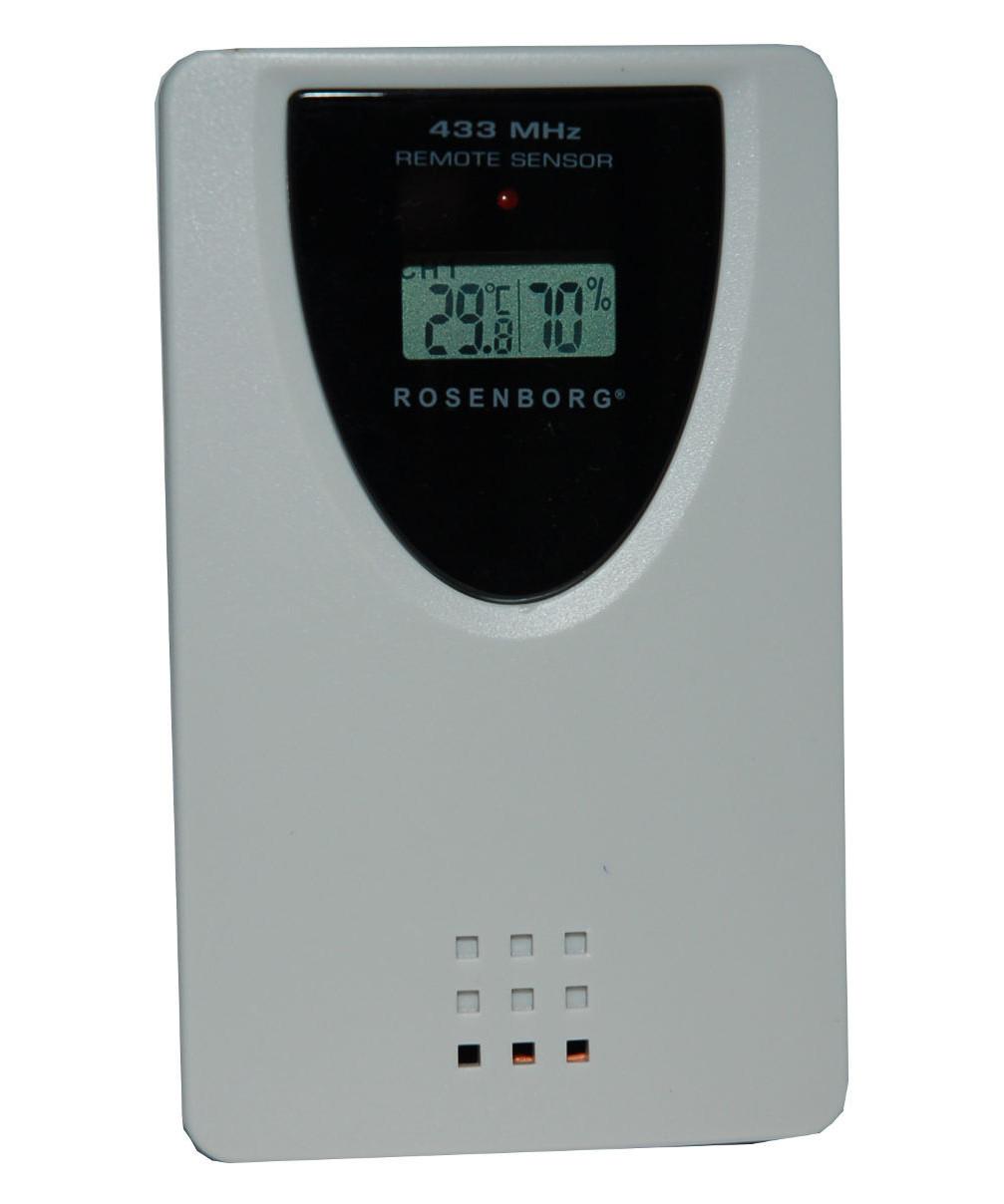 Rosenborg trådløs termometer m/ hygrometer