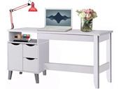 Schreibtisch LINDA Holzwerkstoff in weiß
