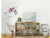 TV-Lowboard Regal COMFORT mit offenen Fächern, Eiche, geölt