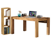 Schreibtisch GIORGIA mit 1 Regal COMFORT aus Eiche massiv