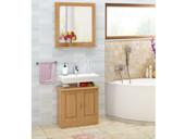 Badezimmerset CHERYL aus Kiefer massiv in gebeizt geölt