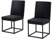 2er Stühle AURELIA gepolstert in schwarz