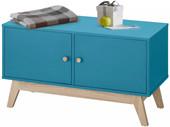 Schuhbank DIDO 2 Türen aus Holzwerkstof in türkis/eichefarbe