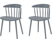 2er-Set Stühle GILL aus Kunststoff in grau
