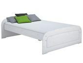Bett RONJA 160x200 cm aus Kiefer in weiß lasiert