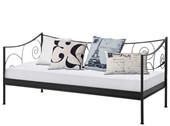 Metall-Tagesbett ROSE 90x200 cm in schwarz