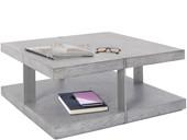 Couchtisch VERMONT 90x90 cm grau/silber, MDF Metall