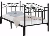 Tagesbett FLORENZ 90 cm aus Metall in schwarz